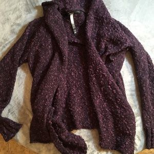 Kenzie Purple Hi-Low Flowy Cardigan